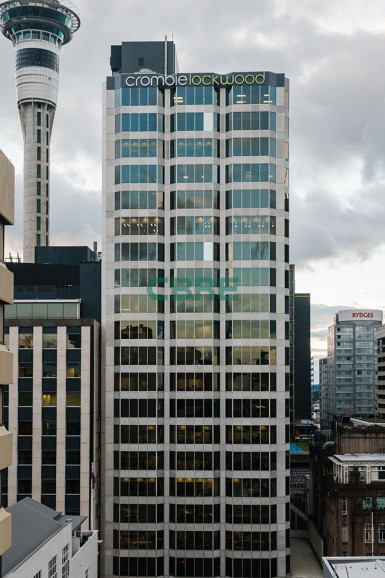 104sqm Crombie Lockwood Tower Offices Property for Lease Auckland Central