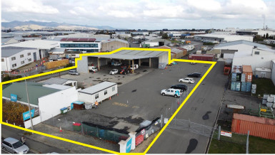 Adaptable Yard and Warehouse Property for Lease Hei Hei Christchurch