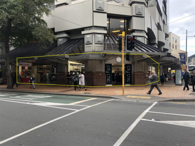 Prime Retail Sites Property for Lease Wellington Central