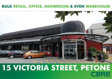 Bulk Showroom and Retail  for Lease Wellington Petone