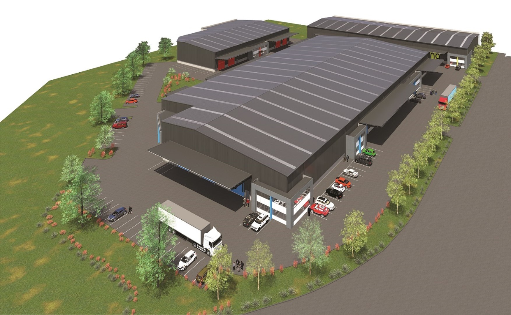 Flexible Warehouse  for Lease Waterloo Business Park Christchurch