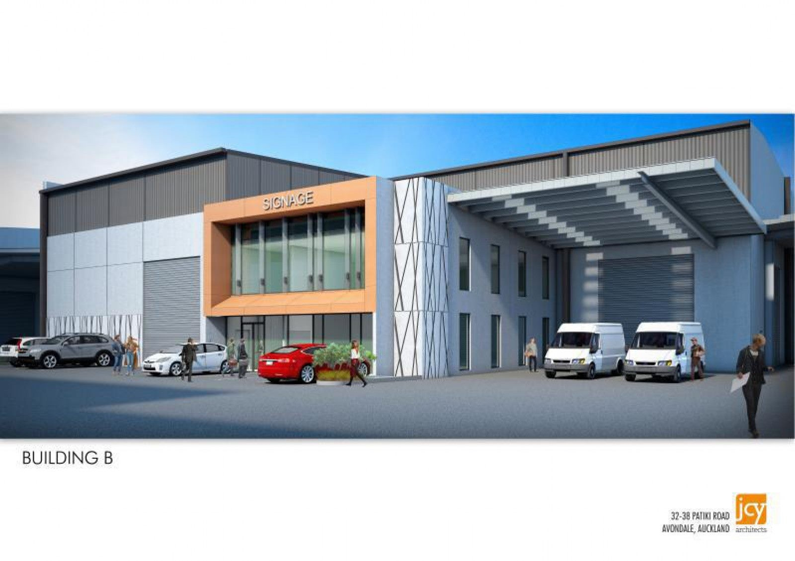 Industrial Warehouse with Office and Carparks  for Lease Avondale Auckland