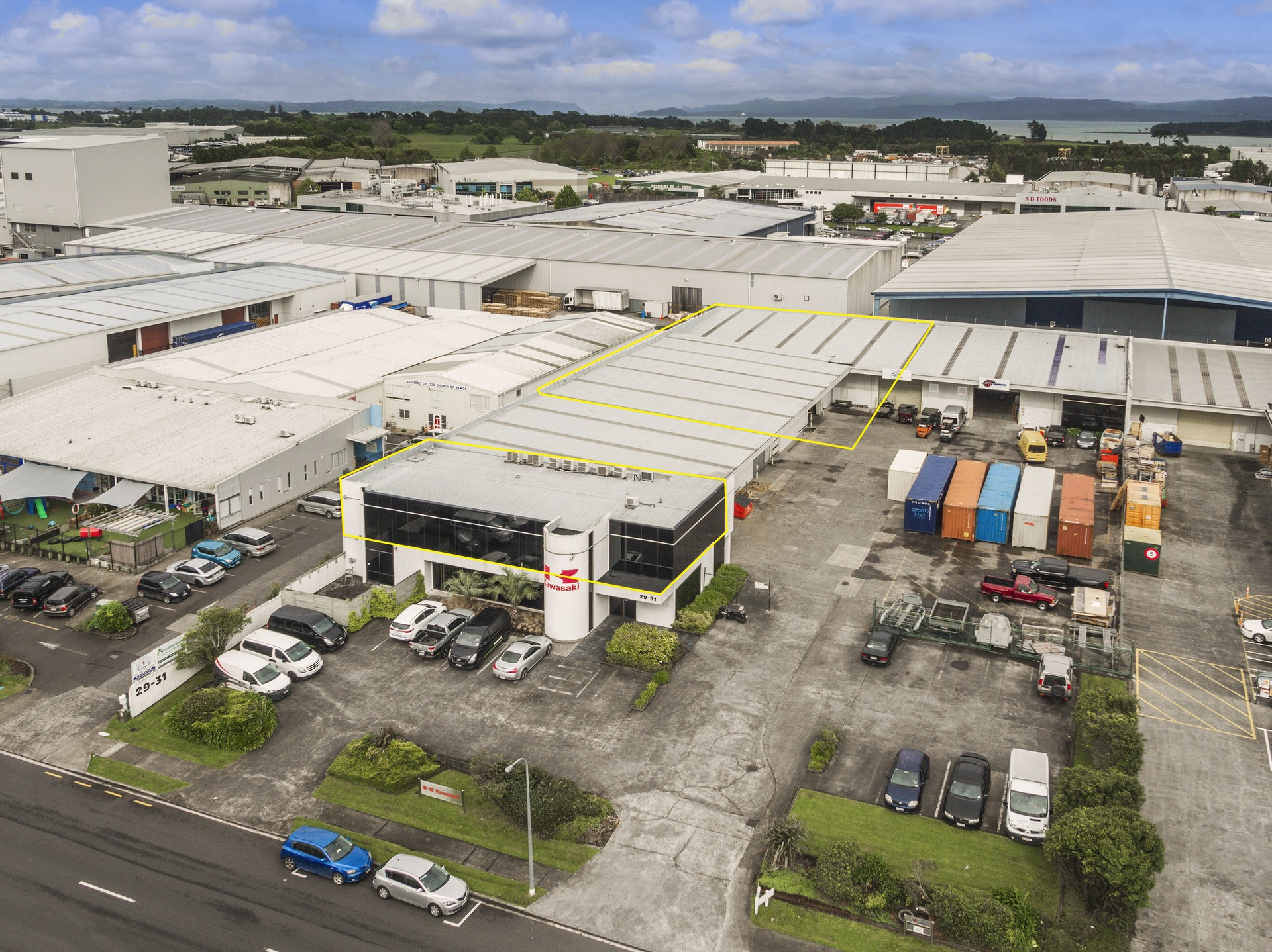 Industrial Warehouse with Office  for Lease Mangere Auckland