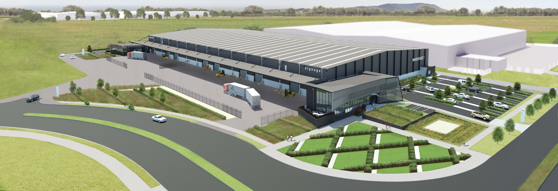 Brand new Industrial Warehouse with Yard  for Lease Mangere Auckland