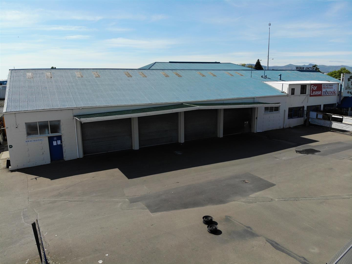 Industrial Warehouse with Office and Yard  for Lease Hornby Christchurch