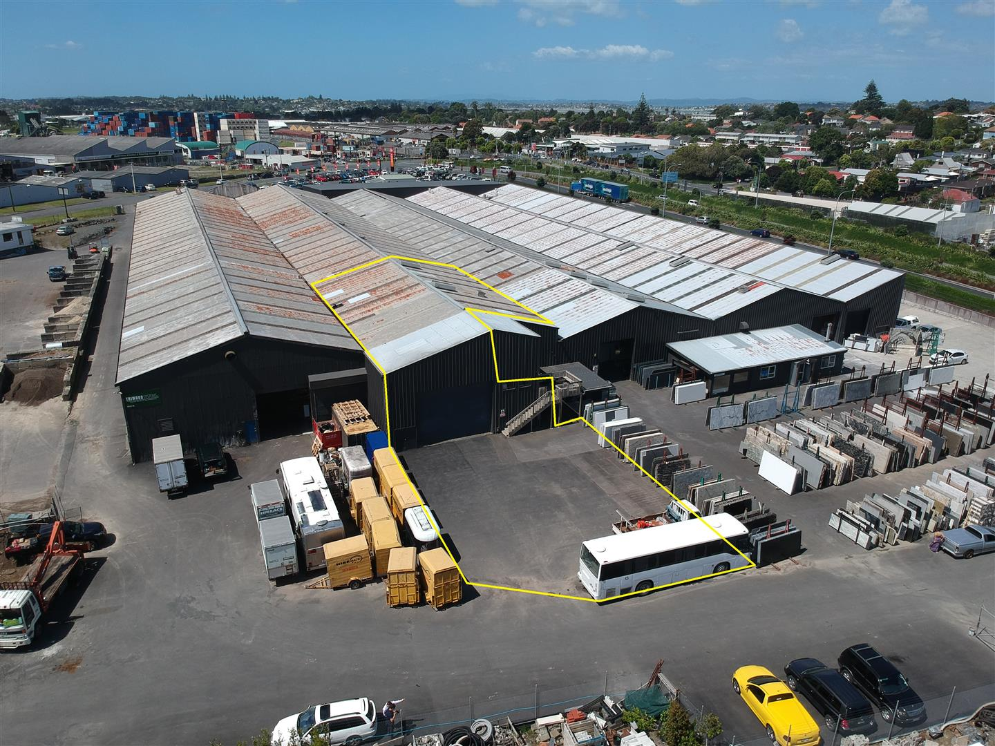 Industrial Warehouse with Yard  for Sale Mount Wellington Auckland