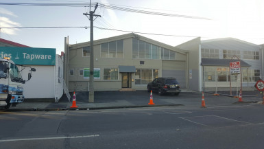 Industrial Warehouse with Offices and Showroom  for Lease Phillipstown Christchurch